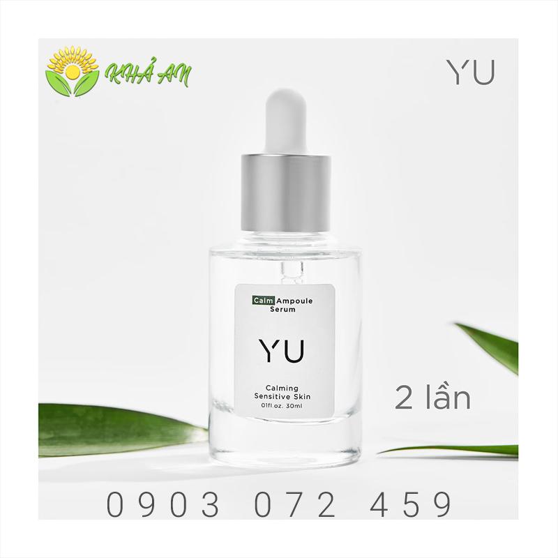 Yu Cosmetics 30ml sử dụng ngày 2 lần cho da sáng min và căng bóng.