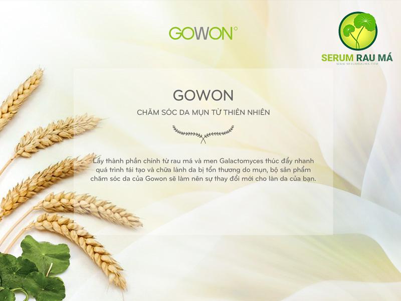 Thương hiệu mỹ phẫm GOWON đến từ Hàn Quốc
