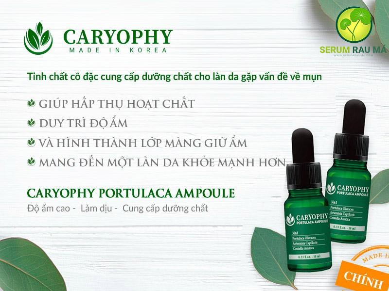 Công dụng serum rau má CARYOPHY