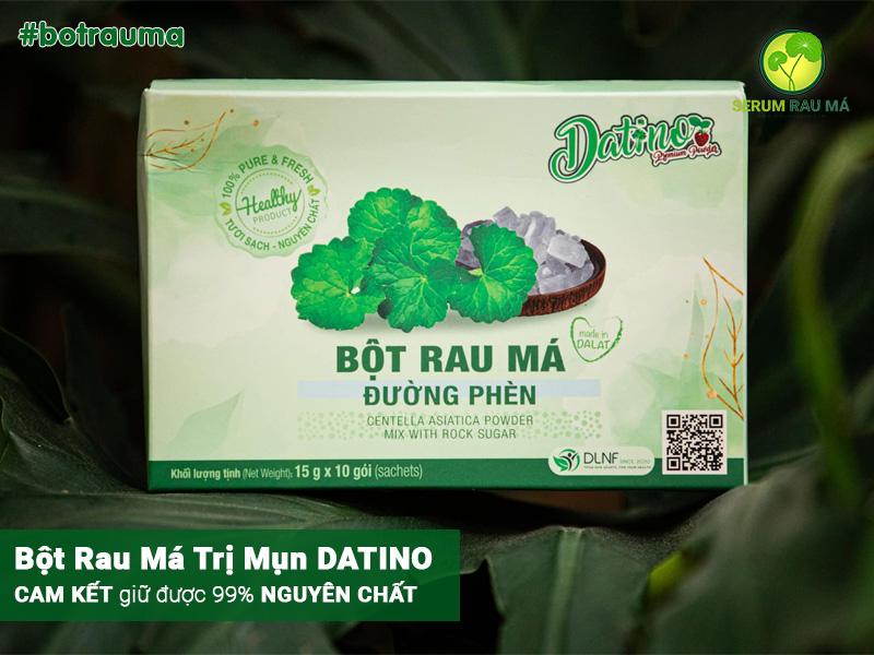Quy trình sản xuất bột rau má DATINO