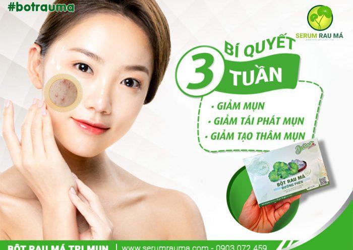 Bột rau má trị mụn bí quyết dưỡng da