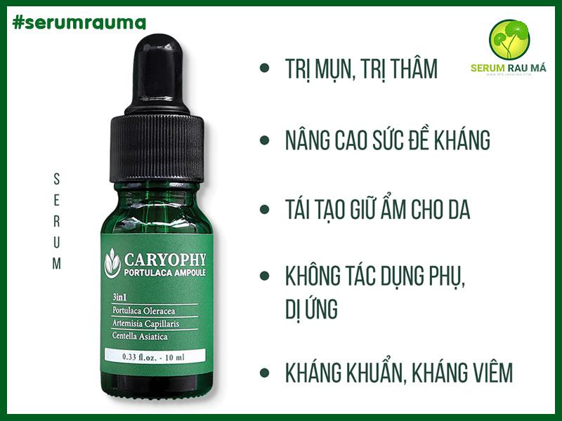Công dụng Serum Rau Má Trị Mụn Caryophy