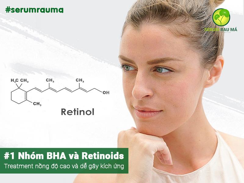 Kết hợp BHA và Retinoids