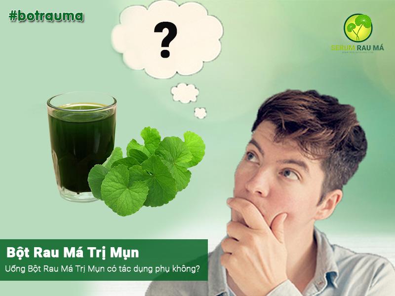 uống bột rau má trị mụn có tác dụng phụ không?