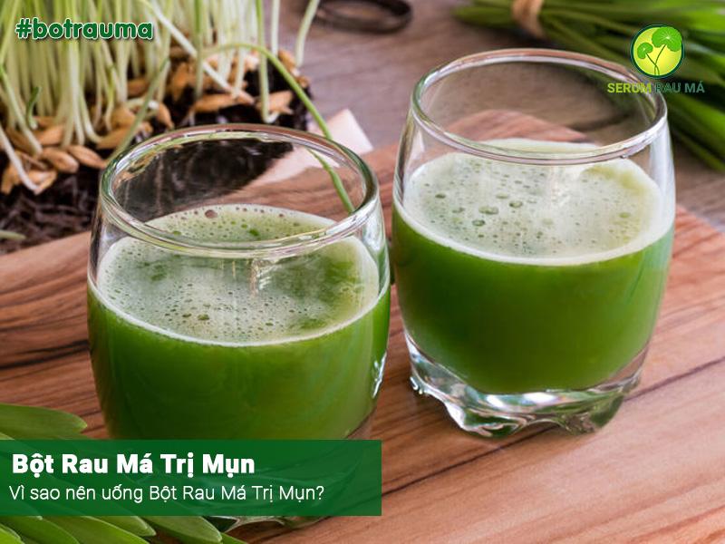 Vì sao nên uống bột rau má trị mụn?